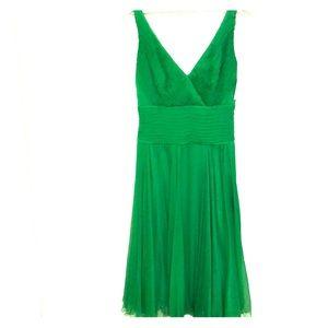 NWT Tadashi shoji Kelly green midi sz 6 silk